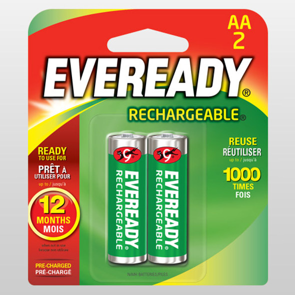 EVEREADY RE15BP2 RECHARGEABLE BATTERY AA 2S