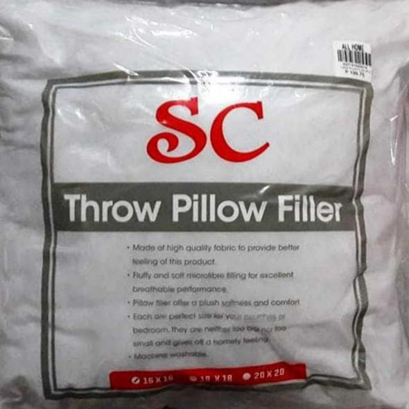 """SC Throw Pillow Filler Single 20"""" x 20"""" White"""