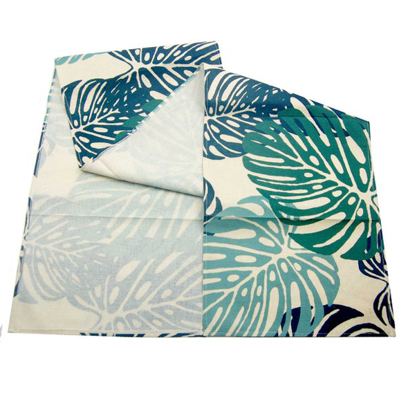 S-8588-A 33X176CM PALM LEAVES TABLE RUNNER