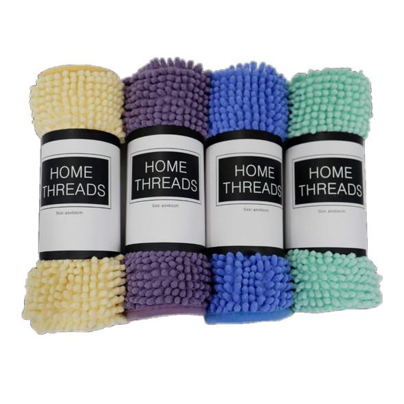 "Homethreads 40""X60"" Periwinkle Microfiber Bath Mat"