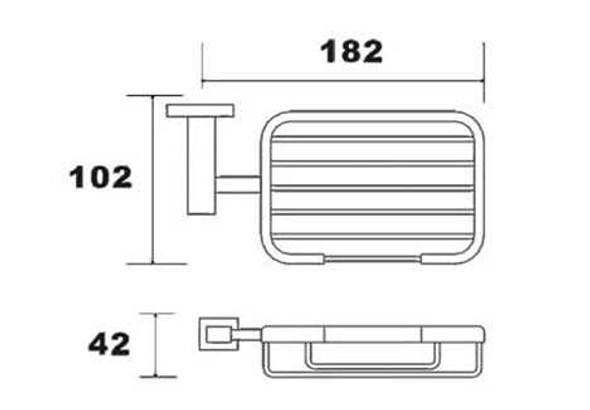 BRAUHN AGATHA NCAAX353300 STAINLESS SOAP BASKET