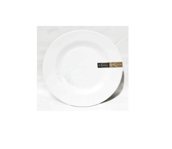 """White 8"""" Dinner Plate Melamine"""