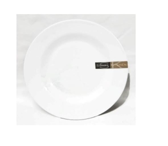 """White 10"""" Dinner Plate Melamine"""