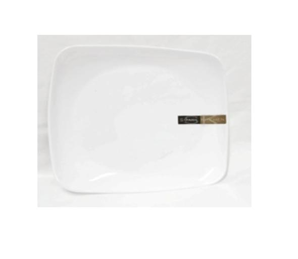 """White 8.5"""" Dinner Plate Square"""
