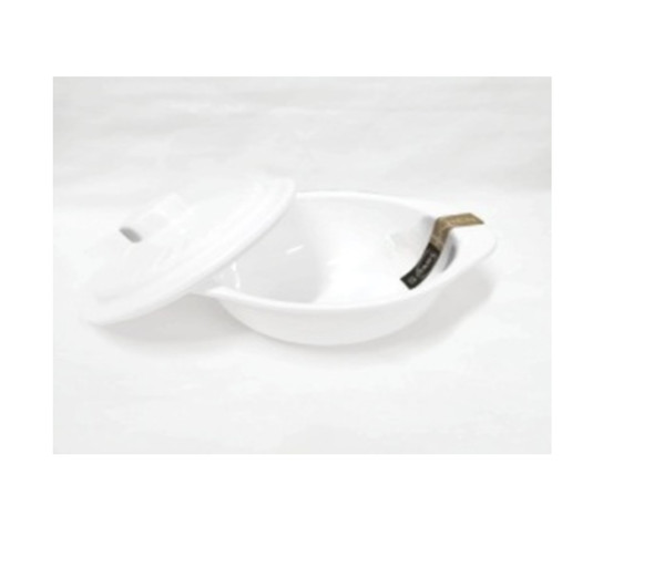 """White 5.5"""" Bowl With Cover"""