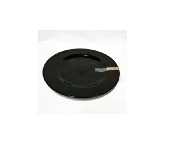 "Black 8"" Dinner Plate Melamine"