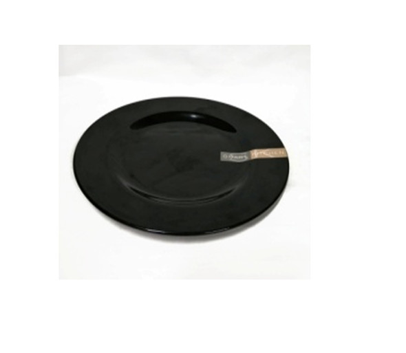 "Black 9"" Dinner Plate Melamine"