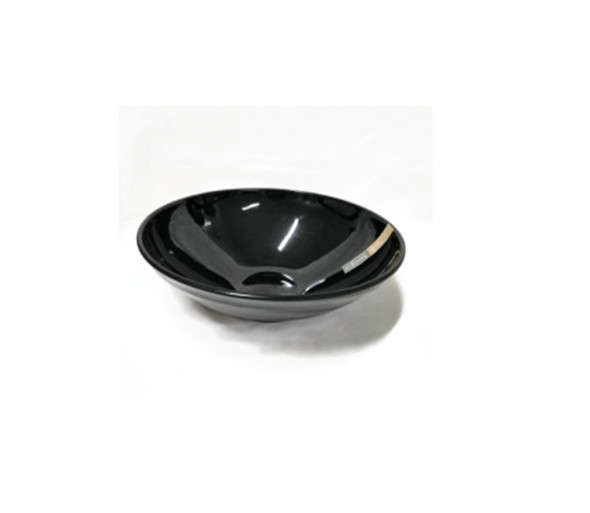 "Black 6.5"" Ramen Bowl Melamine"