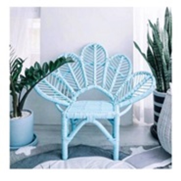 Peony Rattan Kiddie Flower Chair