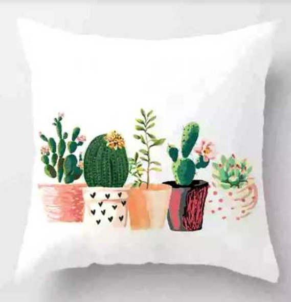 "18""x18"" 5Cactus1  Suede Throw Pillow Case"