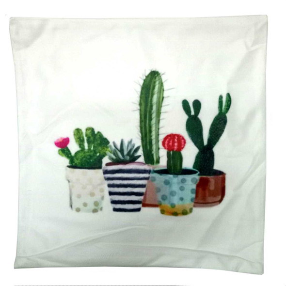 "18""x18"" 5Cactus2  Suede Throw Pillow Case"