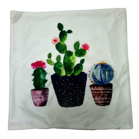 "18""x18"" 3Cactus1 Suede Throw Pillow Case"