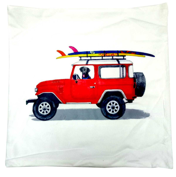"18""x18"" Wrangler with Surf Board  Suede Throw Pillow Case"