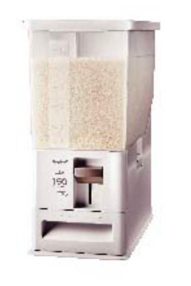 UNIX MEASURE RICE STOCKER / DISPENSER (WHITE)