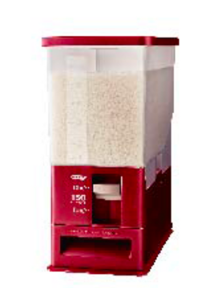 UNIX MEASURE RICE STOCKER / DISPENSER (RED)