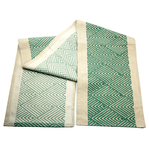 4-6 SEATERS GREEN DIAMOND EMBRO TABLE RUNNER