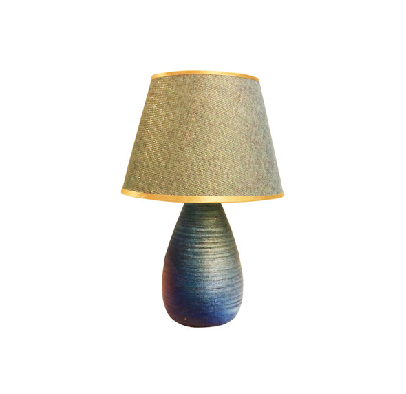 TABLE LAMP CERA WEAVE BLUGRN
