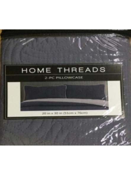 "Homethreads 20""X30"" Gray/Dark Gray Quilt 2pc pillow case"