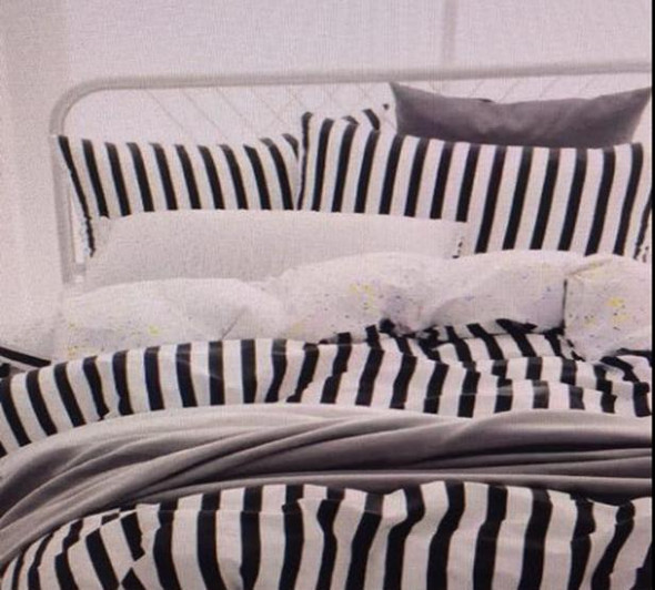 LINENS N' THINGS Comforter Cotton 300 Thread Count Queen Stripe