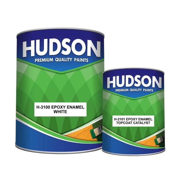 HUDSON H-3100 EPOXY ENAMEL WHITE W/CATALYST 4L