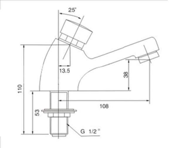 BRAUHN LUKE LF-1106 SELF-CLOSING FAUCET