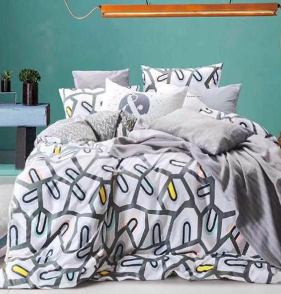 "Linens N Things 20""x30"" Gray 2-Piece Pillow Case (Queen)"
