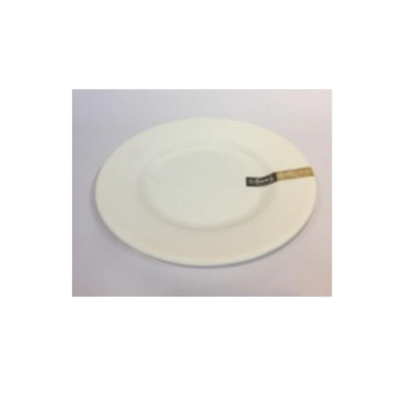 """DINNER PLATE UK MELA WHITE RND 6"""""""