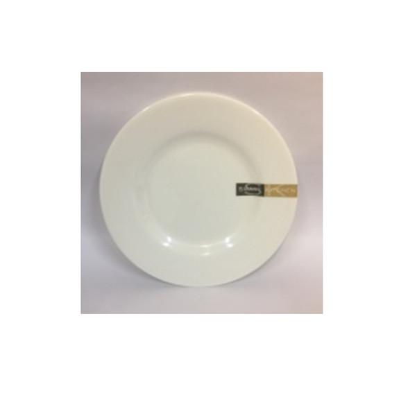 """DINNER PLATE UK MELA WHITE RND 7"""""""