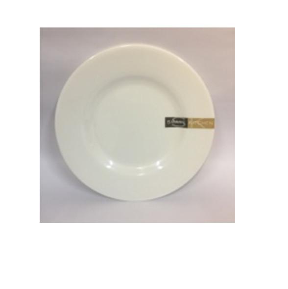 """DINNER PLATE UK MELA WHITE RND 8"""""""