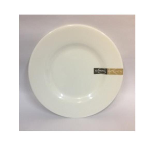 """DINNER PLATE UK MELA WHITE RND 9"""""""