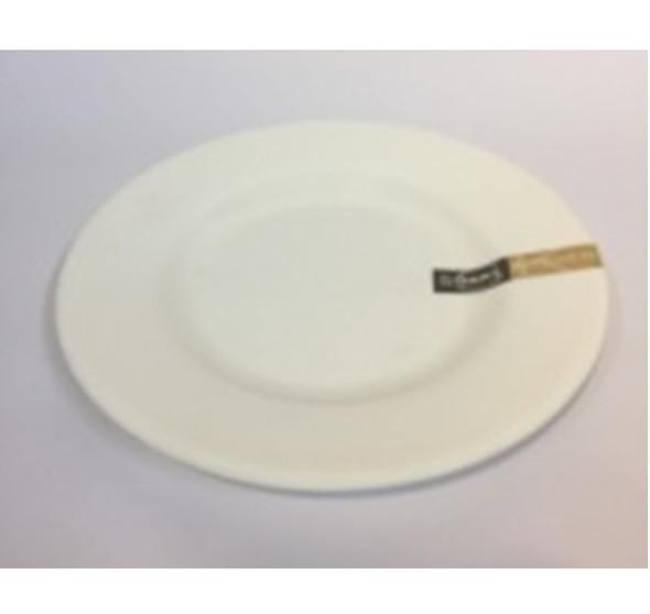 """DINNER PLATE UK MELA WHITE RND 10.5"""""""