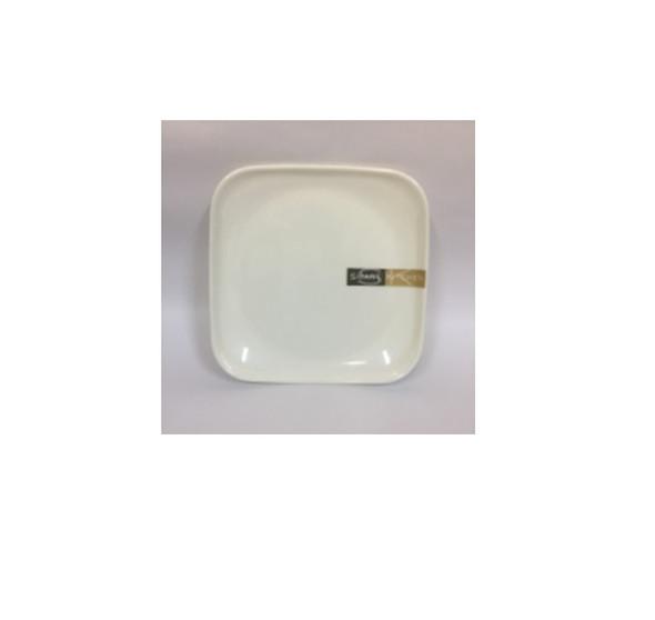"""DINNER PLATE UK MELA WHITE SQUARE 6.5"""""""