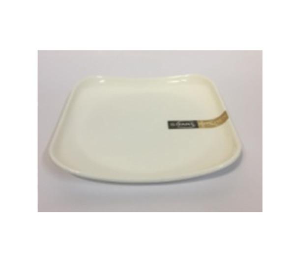 """DINNER PLATE UK MELA WHITE SQUARE 7.5"""""""