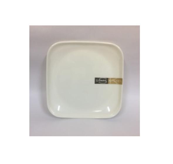 """DINNER PLATE UK MELA WHITE SQUARE 8.5"""""""