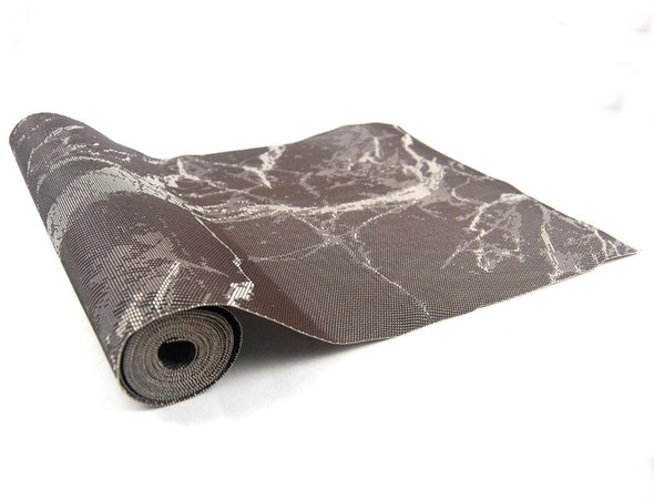 30X250CM BROWN MARBLE DESIGN PVC TABLE RUNNER