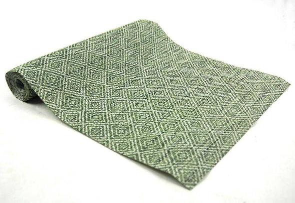 30X180CM GREEN DIAMOND DESIGN PVC TABLE RUNNER