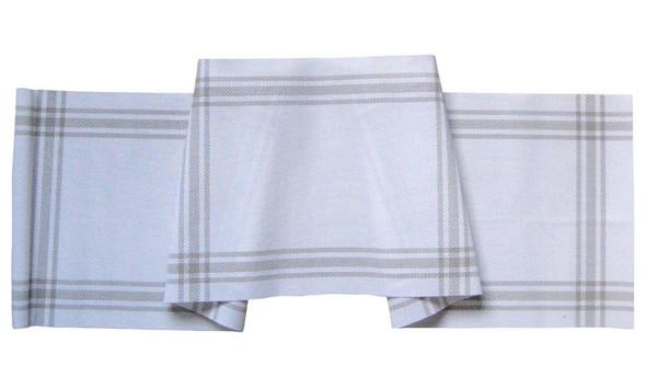 30X180CM WHITE NIARRA PVC TABLE RUNNER
