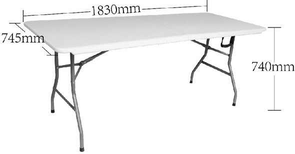 Stacy Bruntwood 6ft Banquet Fold in Half Table