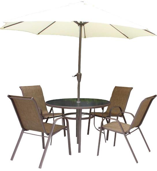Stef 6 seater Garden Set with Umbrella