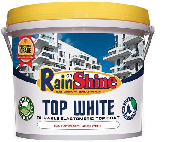 RAIN OR SHINE ROS-TOP 901 TOP COAT SEMI-GLOSS WHITE FLAT