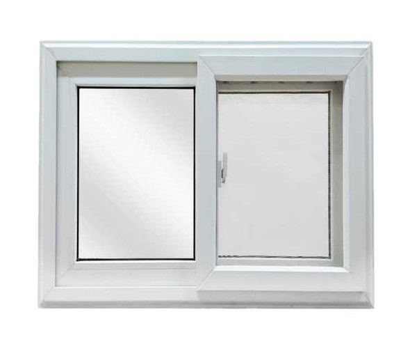 FINESTRA UPVC Window Sliding Type White