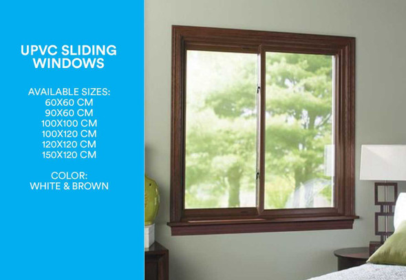 Finestra UPVC Window Sliding Type Brown