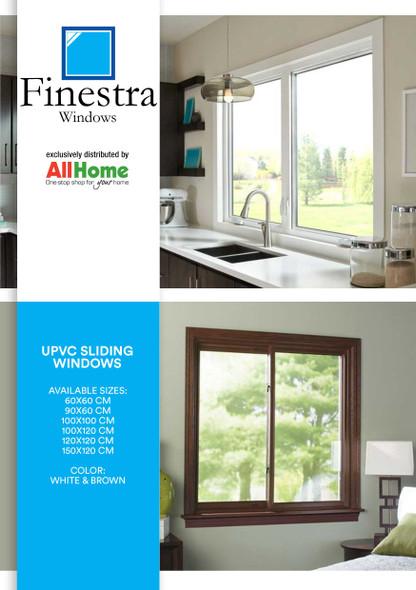Finestra UPVC Window Swing Type Brown
