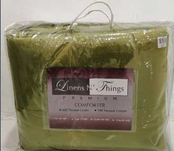 Linens N Things King Olive Green Comforter