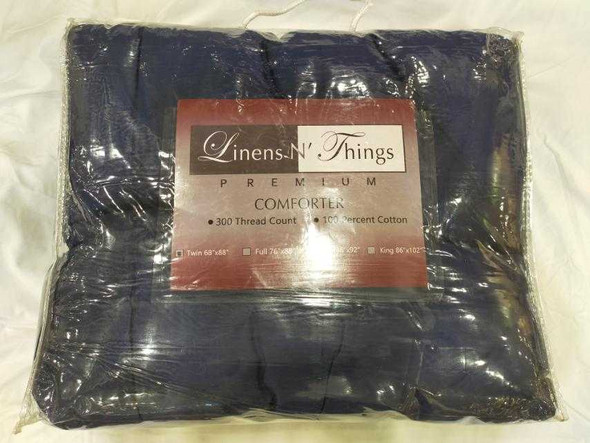 Linens N Things Twin Navy Blue Comforter