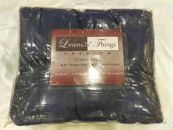 Linens N Things Queen Navy Blue Comforter