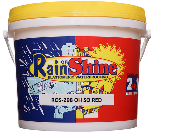 RAIN OR SHINE ROS-298 SPECIAL TOPCOAT OH SO RED