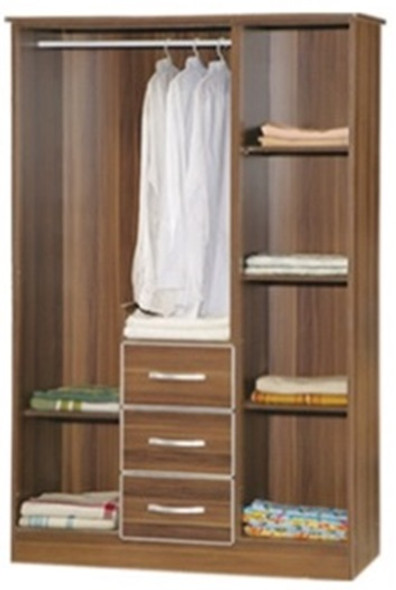 Nags AWD 8737 3 door Wardrobe with Drawers