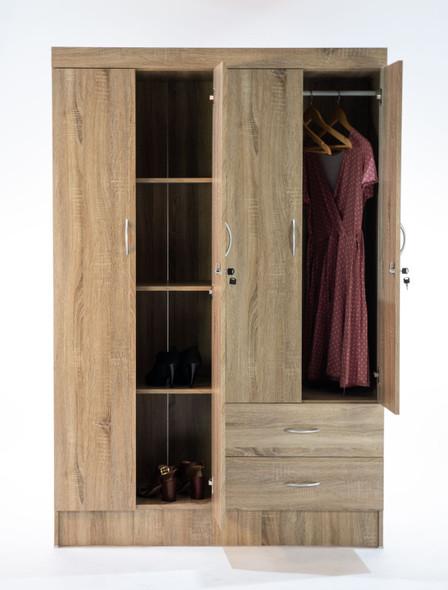 Roupiero 4 door Wardrobe with Drawers