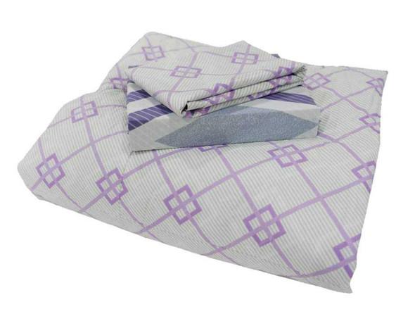 HOMETHREADS Bedsheet 3 Piece Set King Diamond